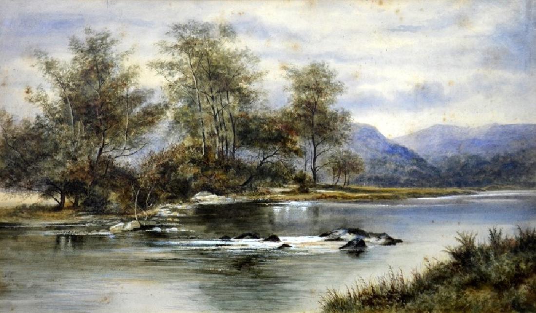 Victorian School, River and Mountain Scene,
