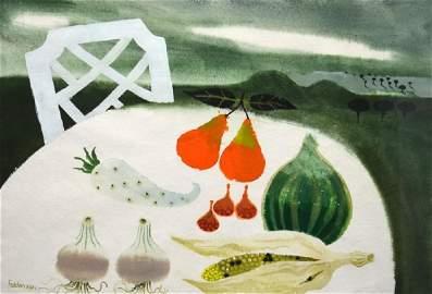 Mary Fedden RA (1915-2012), Still Life with Pears,