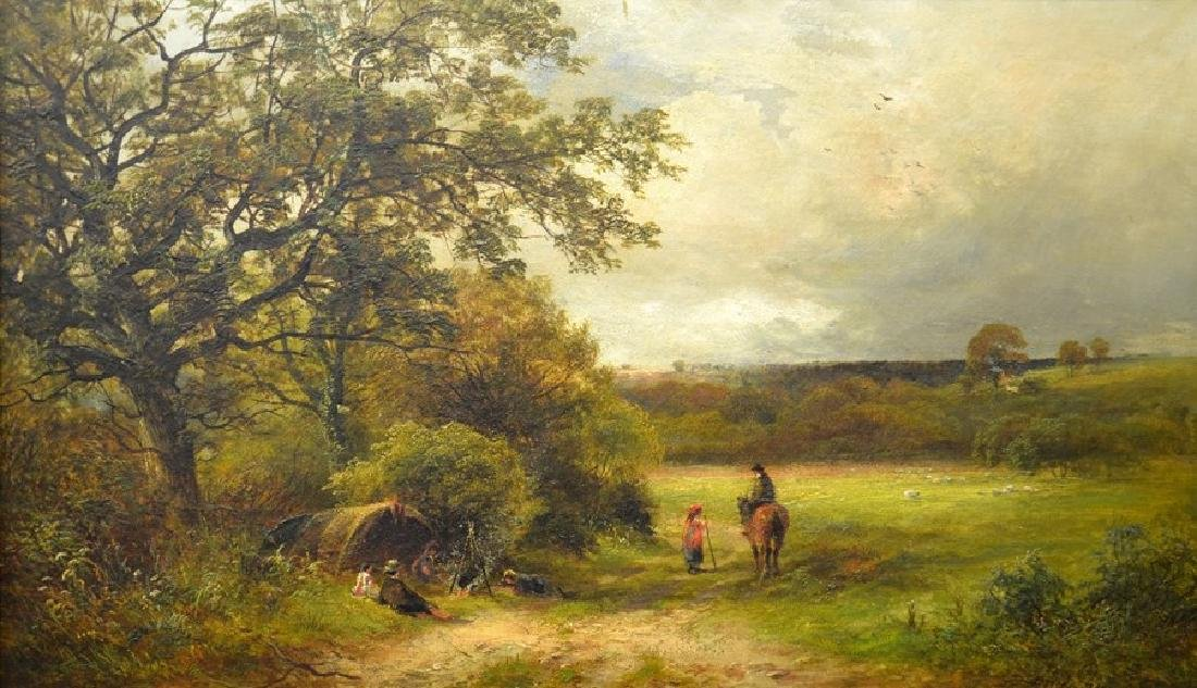 David Payne (1844-1891), Travellers in a Derbyshire