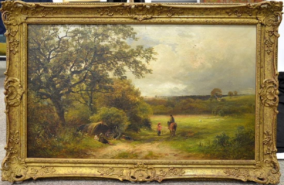 David Payne (1844-1891), Travellers in a Derbyshire - 2
