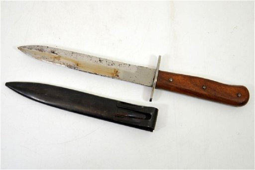 World War Two German Army or Waffen SS fighting knife,