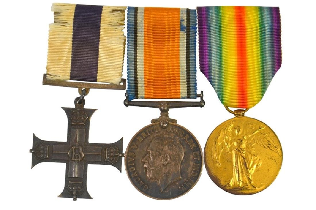Military Medals, Military Cross,G.V.R., unnamed as