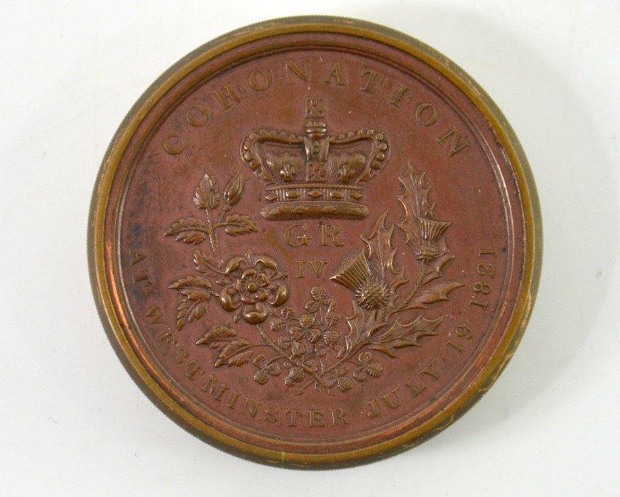 British Medals, George IV, Coronation Box Medal 1821, - 3