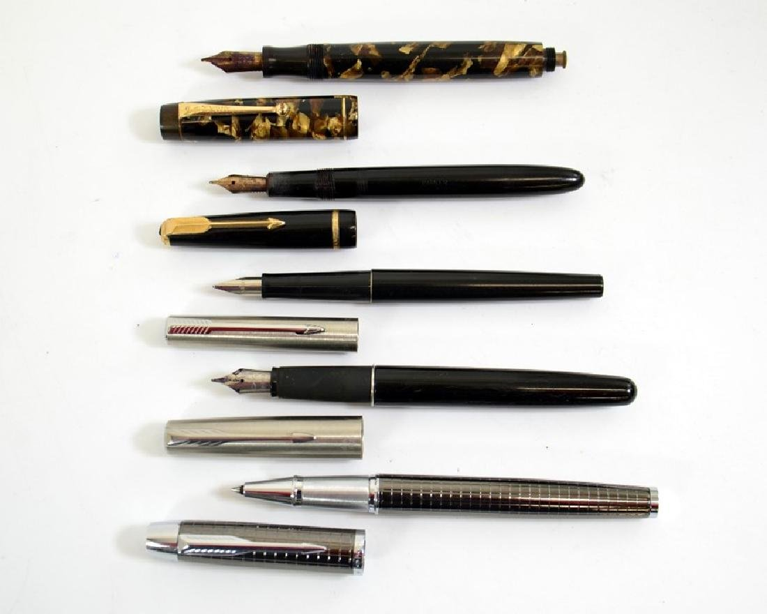 Parker pens including Victory fountain pen, brown pearl - 2