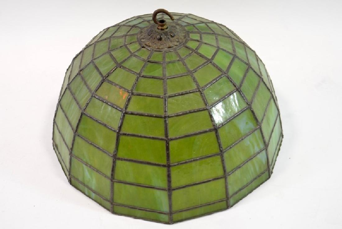An American leaded glass pendant light shade, circa - 2