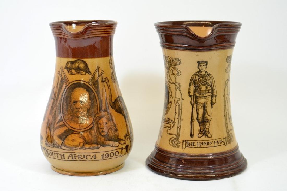 A Doulton Lambeth stoneware commemorative jug, South