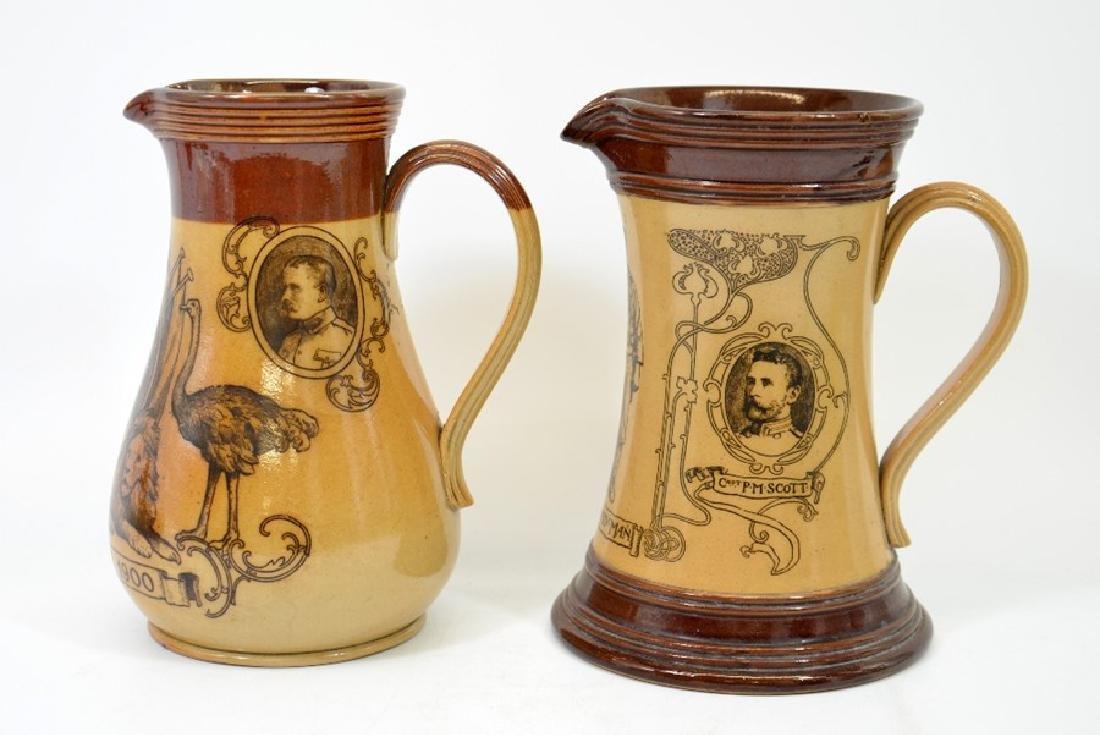A Doulton Lambeth stoneware commemorative jug, South - 2