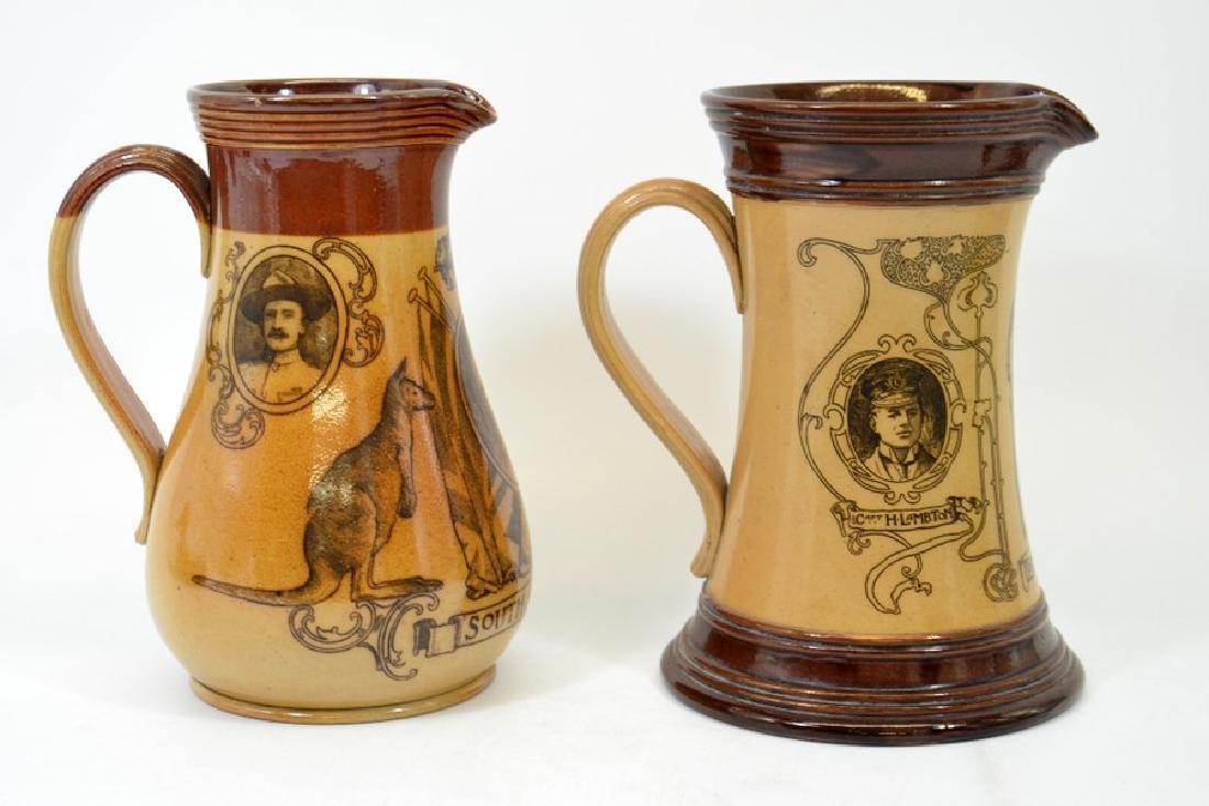 A Doulton Lambeth stoneware commemorative jug, South - 4