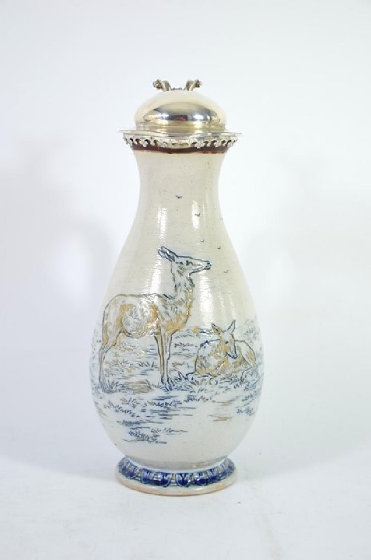 Hannah Barlow for Doulton Lambeth, a stoneware jug,