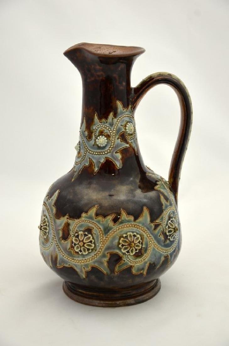 George Tinworth for Doulton Lambeth, a stoneware jug, - 3