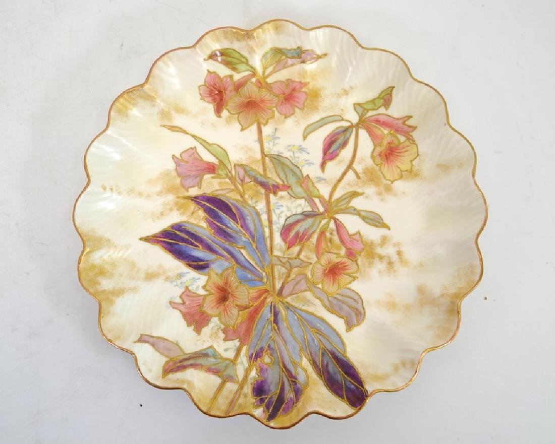 Twelve Doulton Burslem Spanish plates, raised gilt and - 10