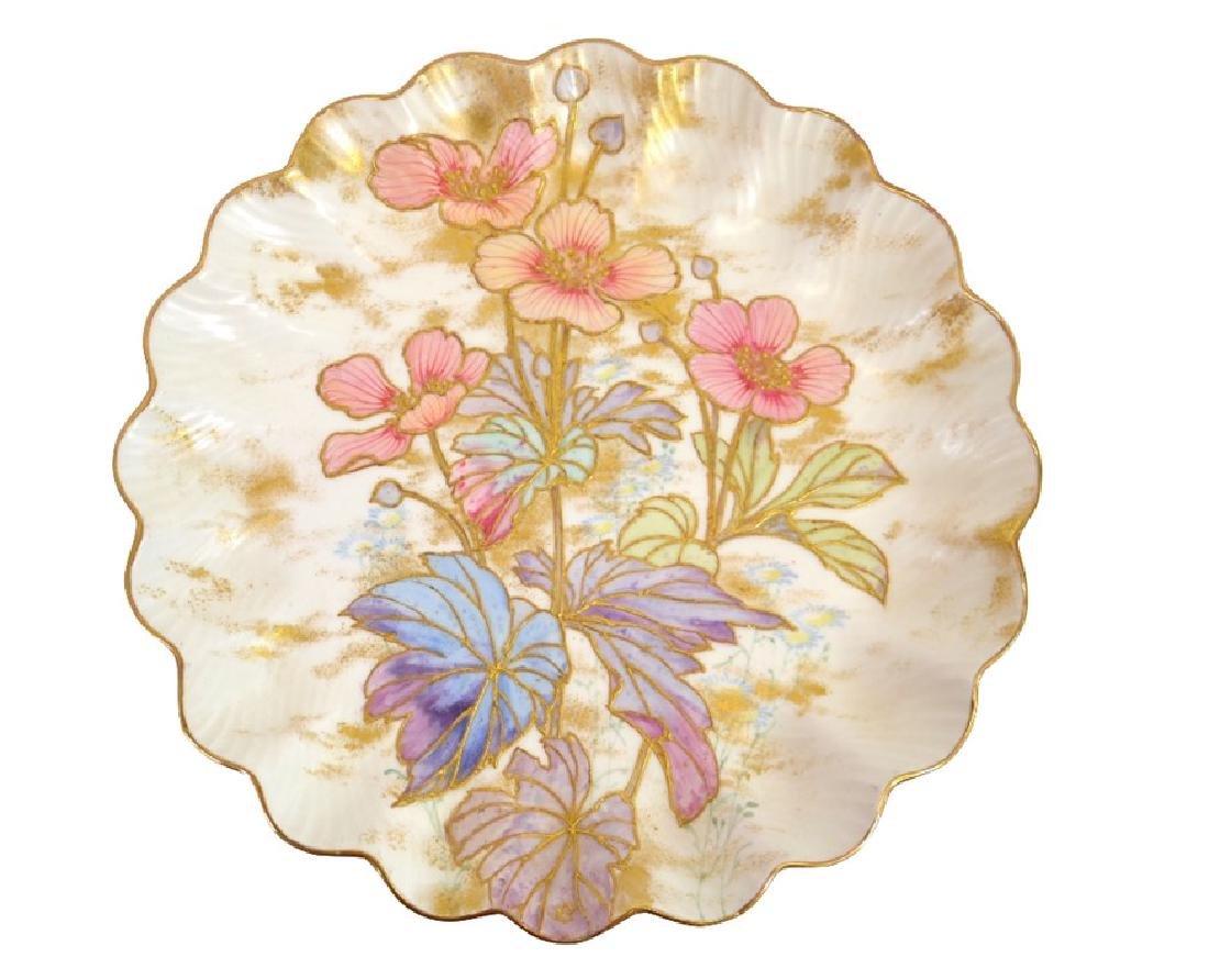 Twelve Doulton Burslem Spanish plates, raised gilt and