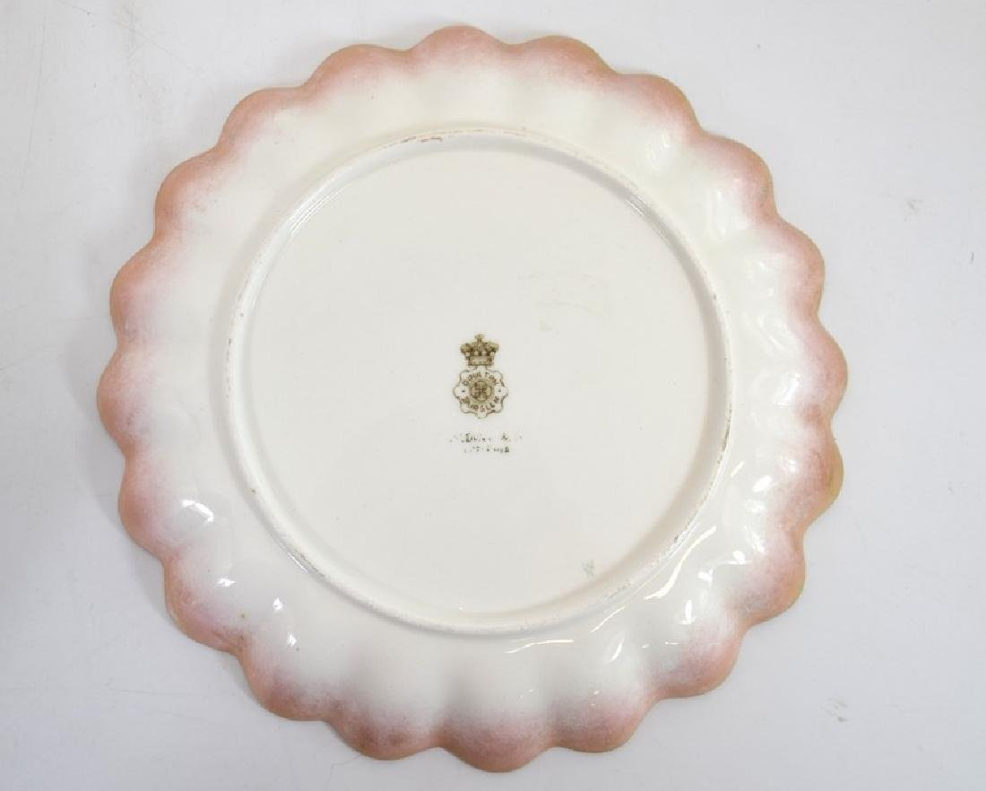 Twelve Doulton Burslem Spanish plates, raised gilt and - 2