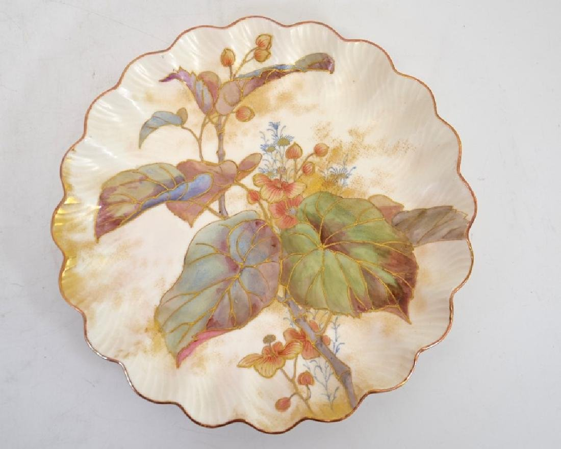 Twelve Doulton Burslem Spanish plates, raised gilt and - 3