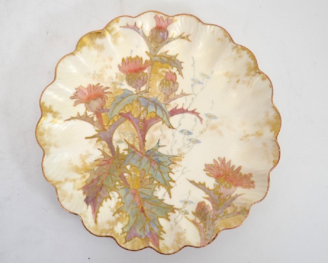 Twelve Doulton Burslem Spanish plates, raised gilt and - 4