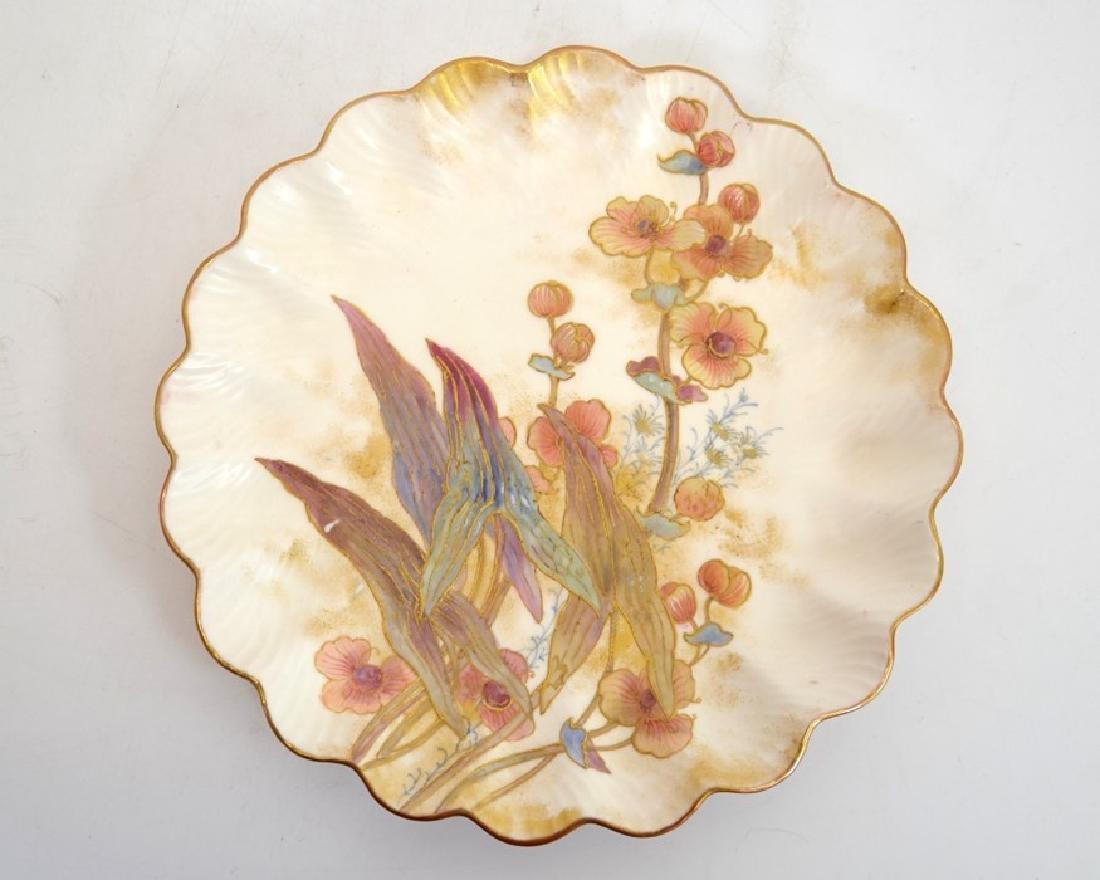 Twelve Doulton Burslem Spanish plates, raised gilt and - 5