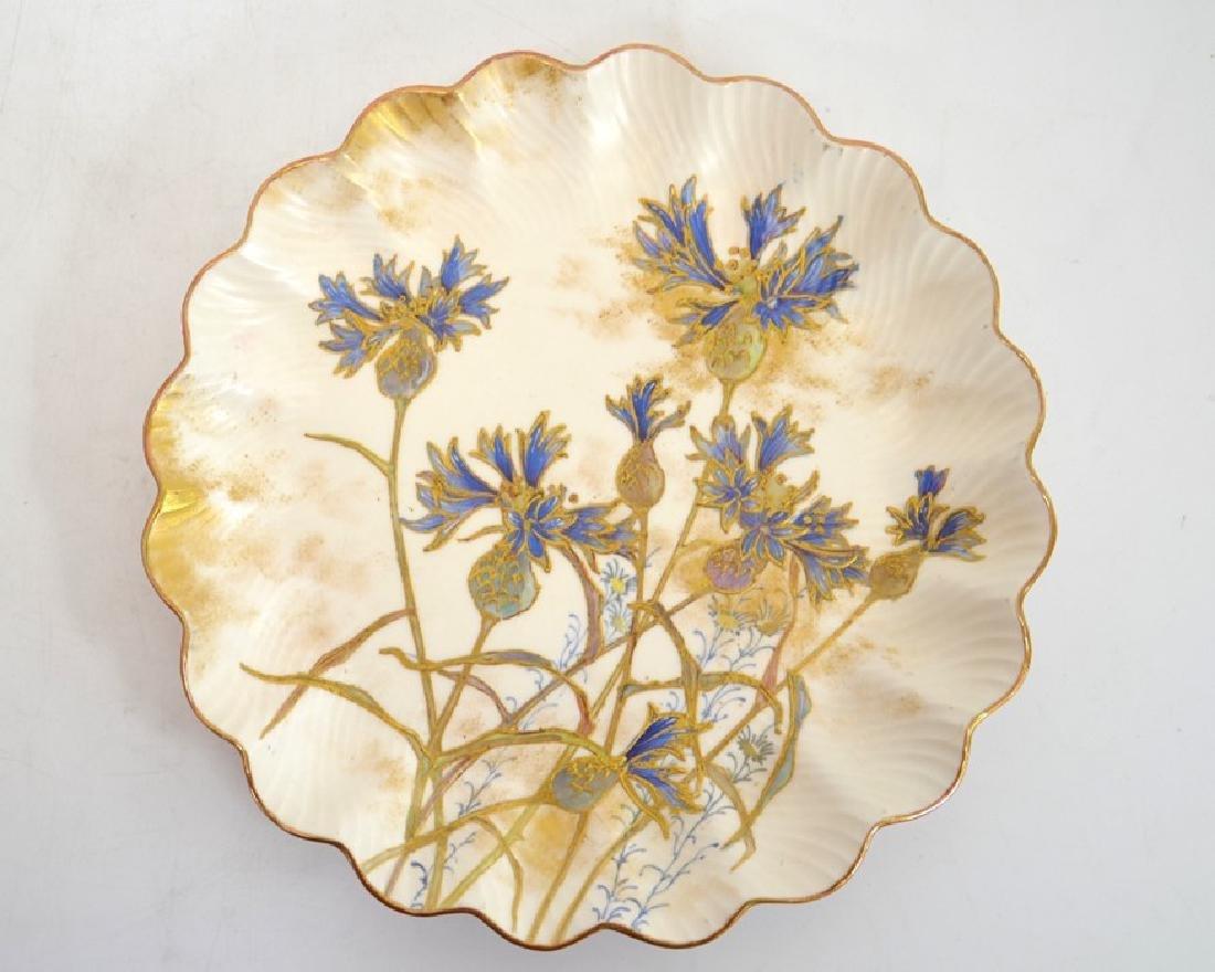 Twelve Doulton Burslem Spanish plates, raised gilt and - 6