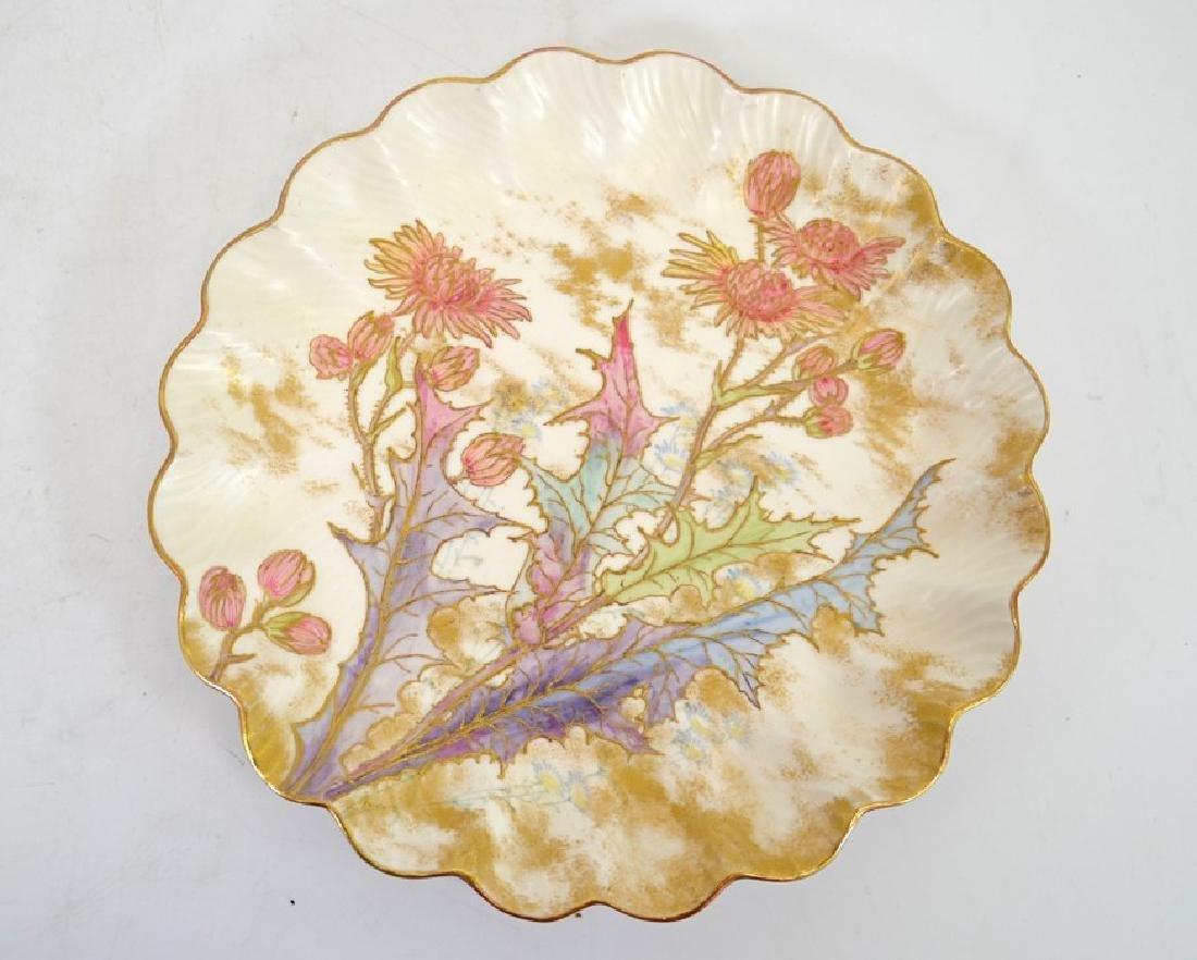 Twelve Doulton Burslem Spanish plates, raised gilt and - 7