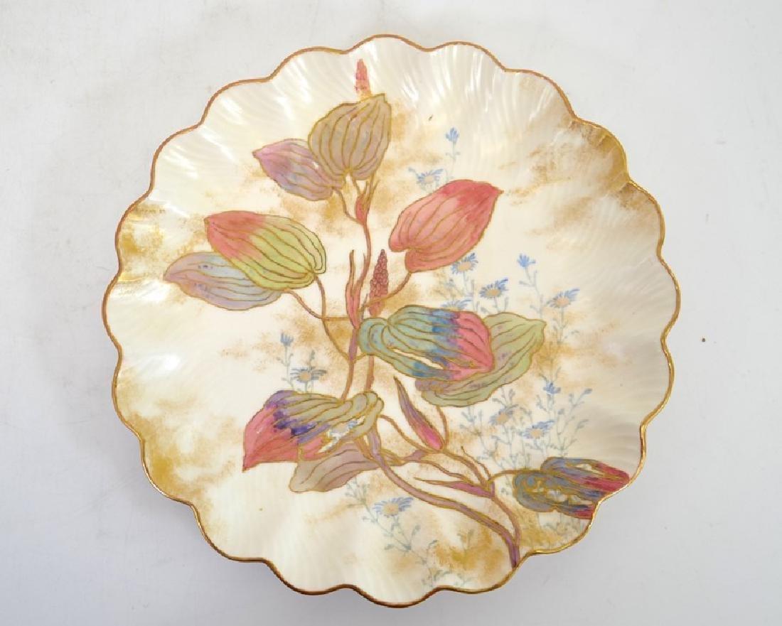Twelve Doulton Burslem Spanish plates, raised gilt and - 8