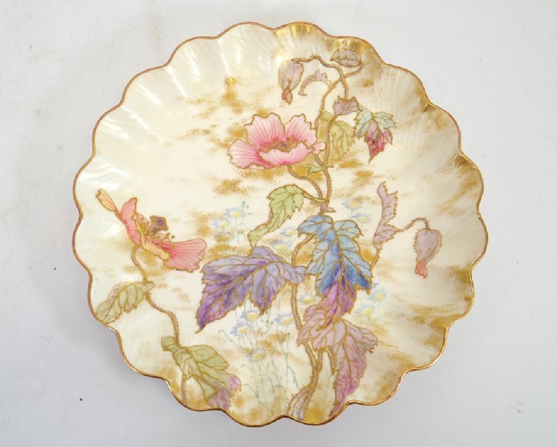 Twelve Doulton Burslem Spanish plates, raised gilt and - 9
