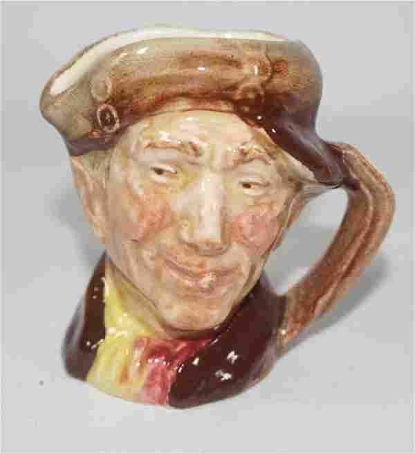 A Royal Doulton miniature character jug 'Pearly Boy.'