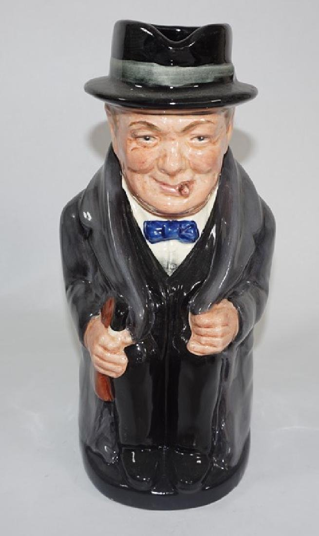 A Royal Doulton colourway large toby jug 'Winston