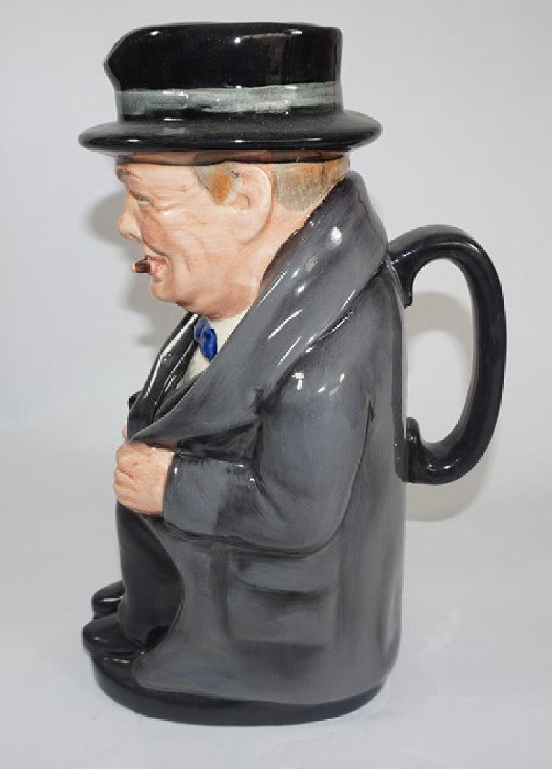A Royal Doulton colourway large toby jug 'Winston - 2
