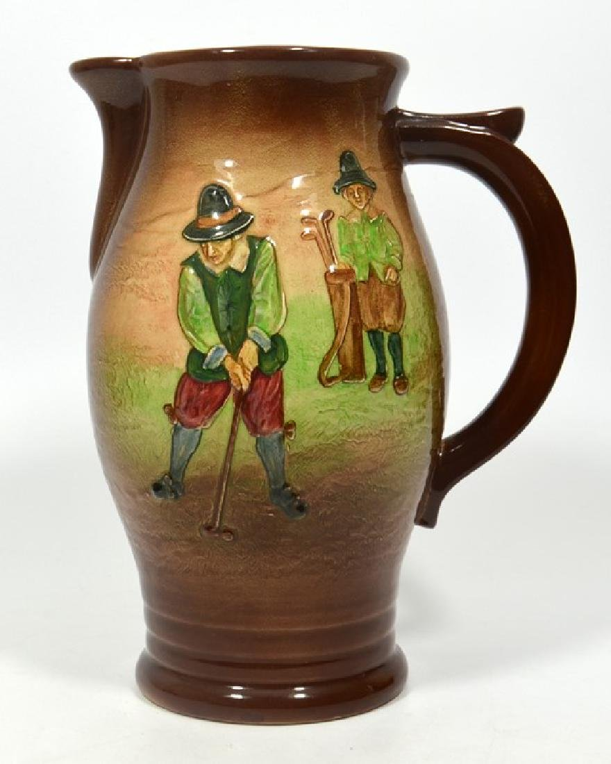 A Royal Doulton Golfing Kingsware jug, decorated with