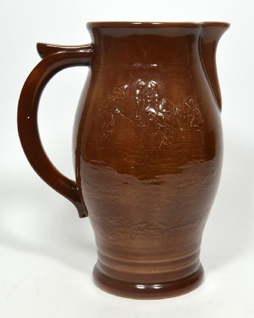 A Royal Doulton Golfing Kingsware jug, decorated with - 2