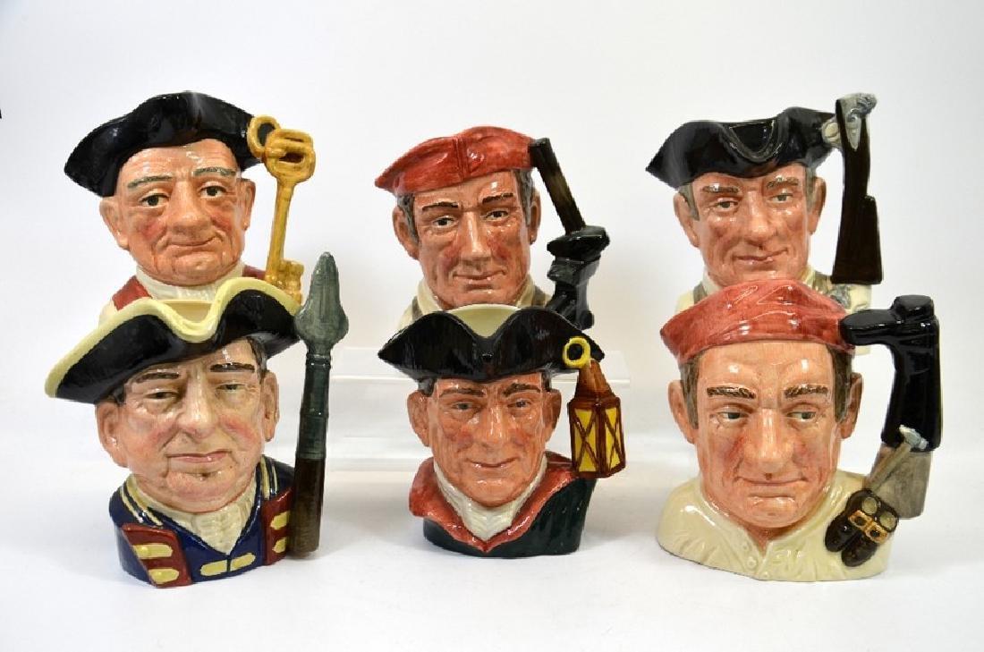 Six Royal Doulton large character jugs, comprising