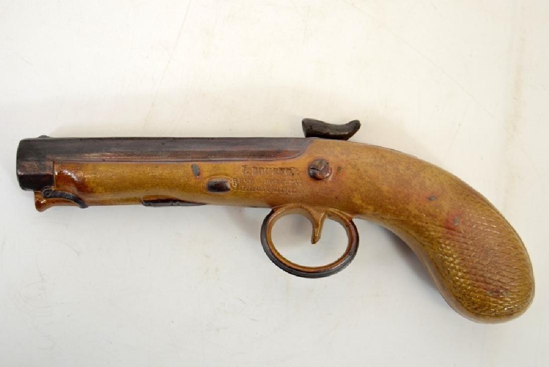 J Bourne, a Denby Pottery salt glazed stoneware pistol - 2