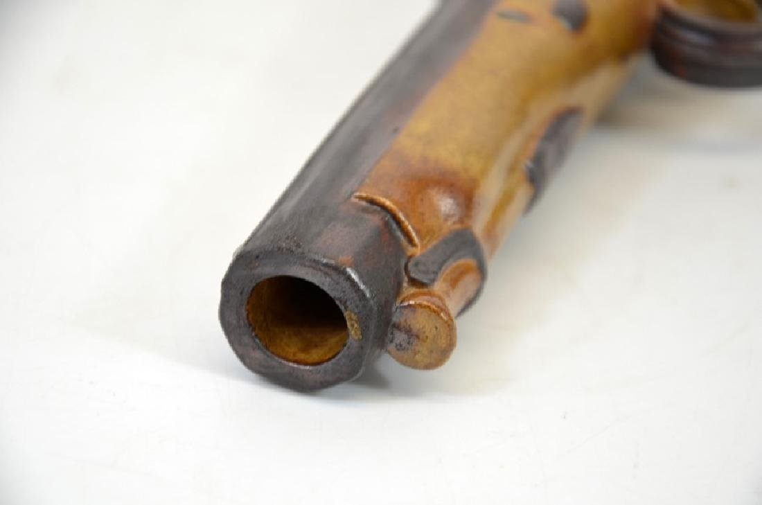 J Bourne, a Denby Pottery salt glazed stoneware pistol - 4