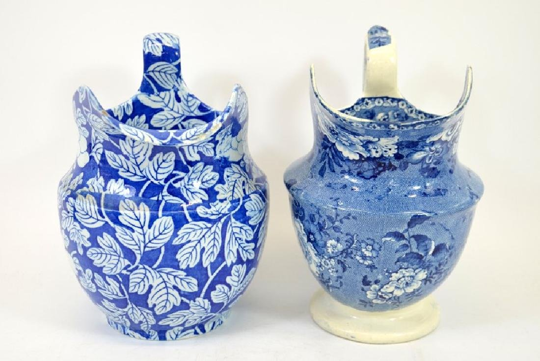 Two Staffordshire blue and white transfer printed jugs, - 2