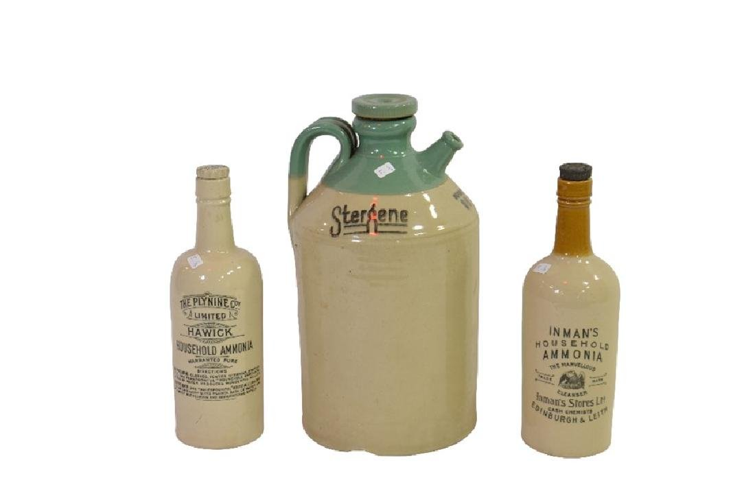 Two stoneware ammonia bottles from Inman's Stores Ltd,