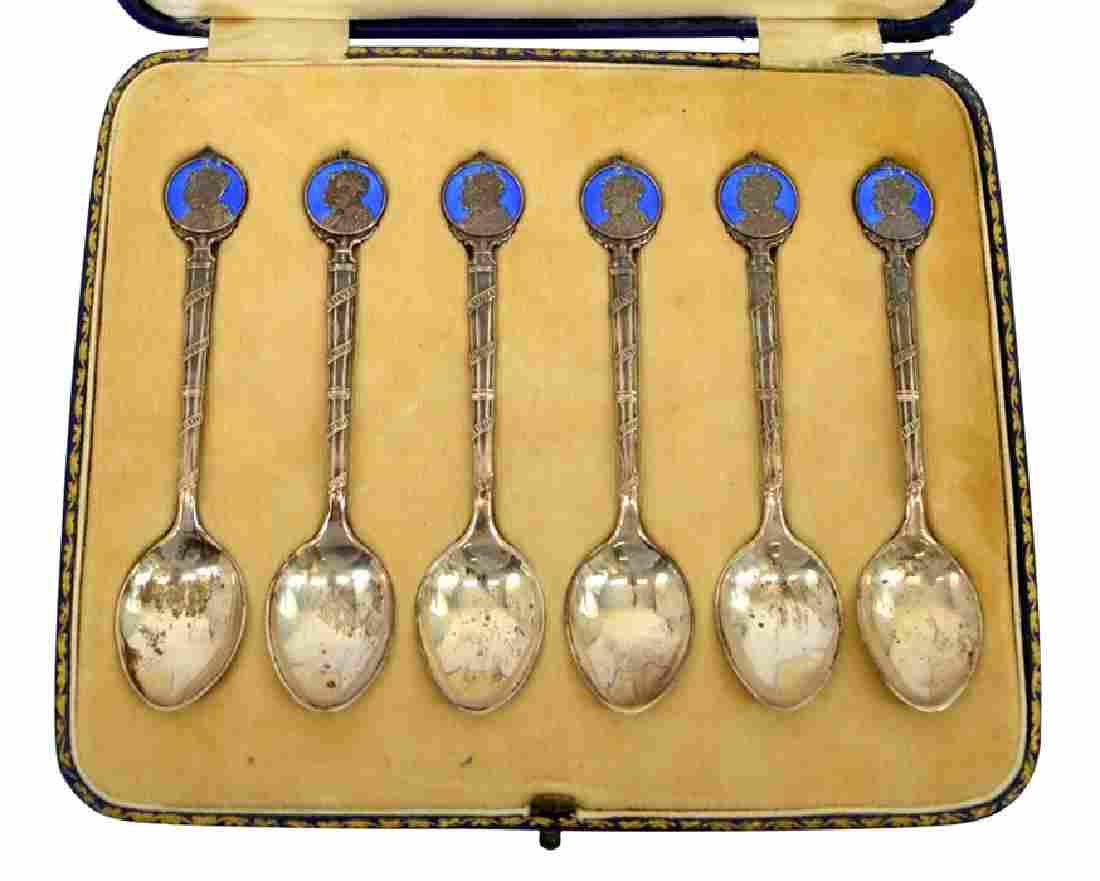A boxed set of six George V commemorative silver and