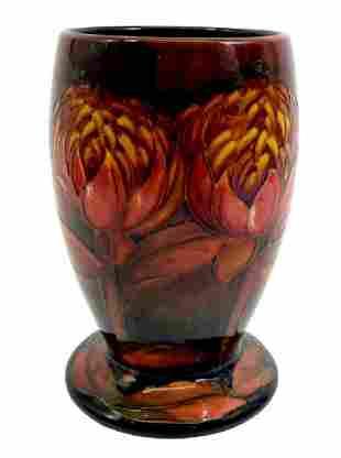 William Moorcroft, a Flambe Waratah vase, circa 1930,