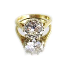 A diamond solitaire ring, approx. 1.9 carats, brilliant