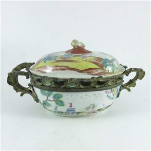 18th Century Chinese tureen symbolic polychrome