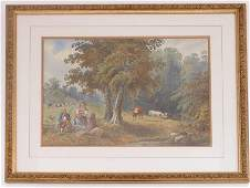 19th Century English School Patoral Scene with