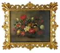 Dutch School, Still Life with Flowers, oil on canvas,