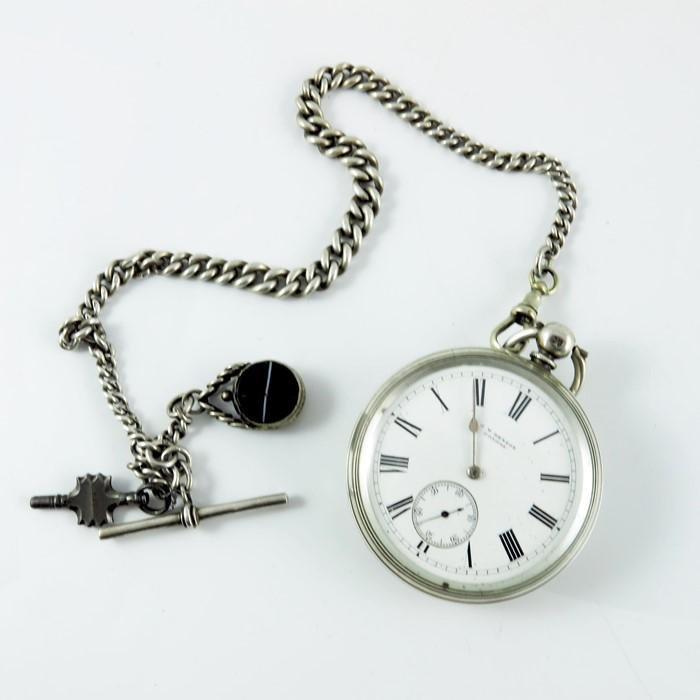 A Victorian silver Ludgate pocket watch, J W Benson,