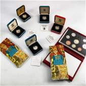 Royal Mint coins and sets, including two silver