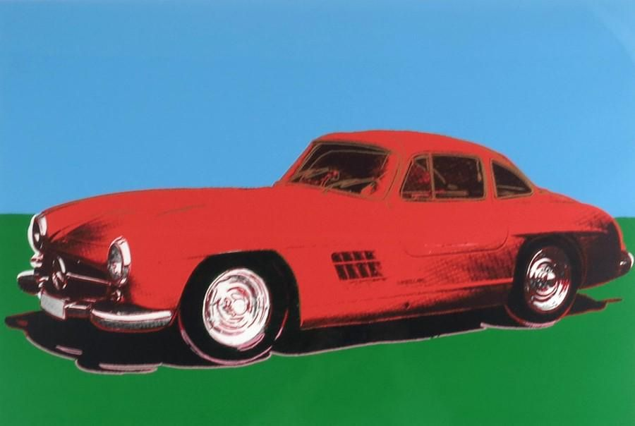 After Andy Warhol (1928-1987), Mercedes 300 SL Gulwing,