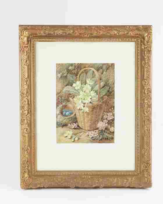Vincent Clare (1855-1925), Basket of Flowers,