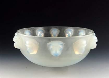 Rene Lalique, a Madagascar glass bowl, model 403,