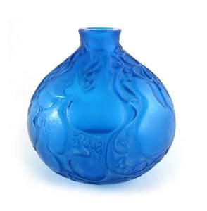 Rene Lalique, a Courges glass vase, model 900, designed