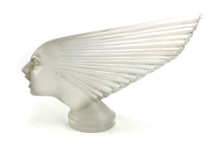 Rene Lalique, a Victoire glass car mascot, model 1147,