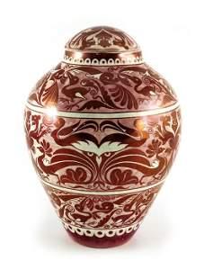 William De Morgan for Sands End Pottery, a large lustre