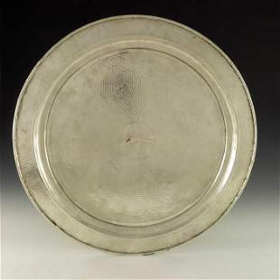 A Chinese export silver tray Zeewo Shanghai circa