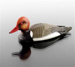 An Italian cold painted silver model of a red crested